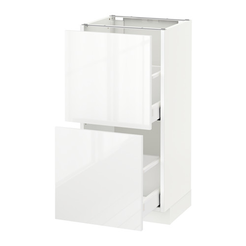 METOD - base cabinet with 2 drawers, white Maximera/Ringhult white | IKEA Hong Kong and Macau - PE521372_S4