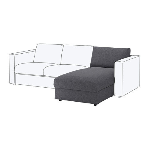 VIMLE - chaise longue section, Gunnared medium grey | IKEA Hong Kong and Macau - PE647635_S4