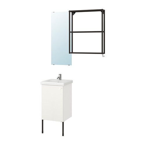 TVÄLLEN/ENHET - 浴室貯物組合 10件裝, 白色/炭黑色 PILKÅN水龍頭 | IKEA 香港及澳門 - PE777455_S4