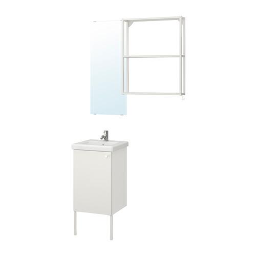 TVÄLLEN/ENHET - 浴室貯物組合 10件裝, 白色/PILKÅN水龍頭 | IKEA 香港及澳門 - PE777442_S4