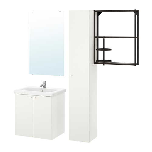 TVÄLLEN/ENHET - 浴室貯物組合 13件裝, 白色/炭黑色 PILKÅN水龍頭   IKEA 香港及澳門 - PE777502_S4