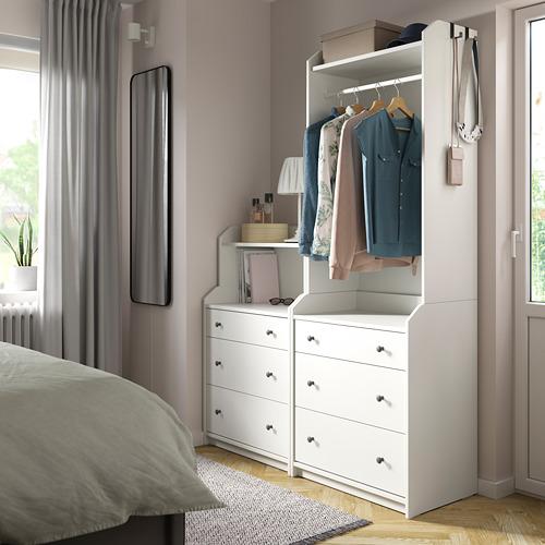 HAUGA - storage combination, white | IKEA Hong Kong and Macau - PE791284_S4