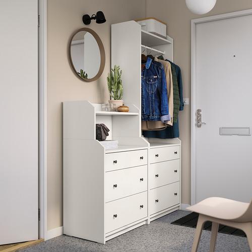 HAUGA - storage combination, white | IKEA Hong Kong and Macau - PE791285_S4