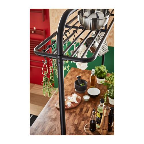 VADHOLMA - rack for kitchen island, black   IKEA Hong Kong and Macau - PH158822_S4