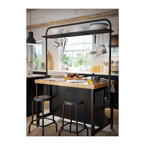 VADHOLMA - rack for kitchen island, black   IKEA Hong Kong and Macau - PH153333_S4