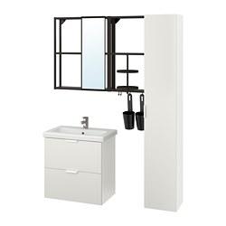 TVÄLLEN/ENHET - 浴室貯物組合 18件裝, white/anthracite Ensen tap | IKEA 香港及澳門 - PE777517_S3