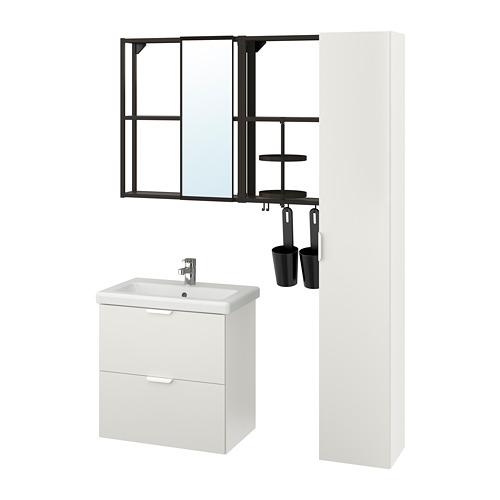 TVÄLLEN/ENHET - bathroom furniture, set of 18, white/anthracite Ensen tap | IKEA Hong Kong and Macau - PE777517_S4