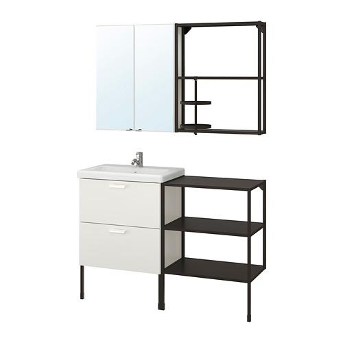 TVÄLLEN/ENHET - 浴室貯物組合 15件裝, 白色/炭黑色 PILKÅN水龍頭 | IKEA 香港及澳門 - PE777480_S4