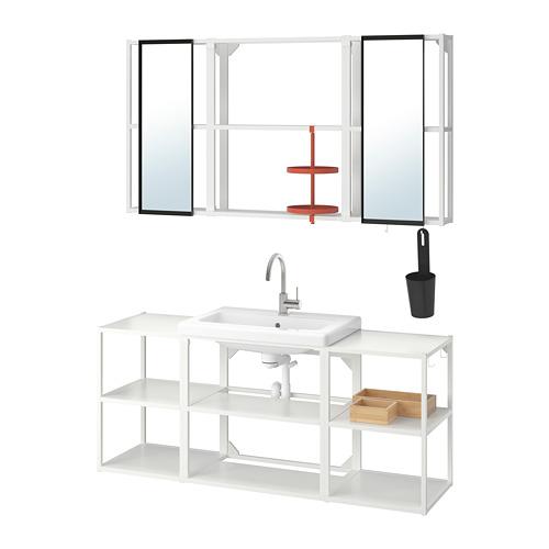 TVÄLLEN/ENHET - 浴室貯物組合 17件裝, white/Glypen tap   IKEA 香港及澳門 - PE777491_S4