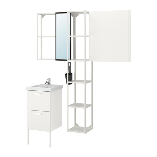 TVÄLLEN/ENHET - bathroom furniture, set of 16, white/Pilkån tap | IKEA Hong Kong and Macau - PE777521_S4