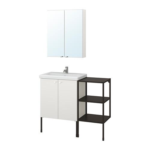 TVÄLLEN/ENHET - 浴室貯物組合 14件裝, 白色/炭黑色 PILKÅN水龍頭 | IKEA 香港及澳門 - PE777530_S4