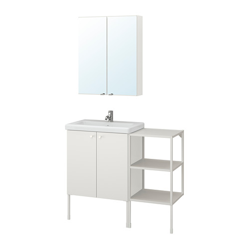 TVÄLLEN/ENHET - 浴室貯物組合 14件裝, 白色/PILKÅN水龍頭 | IKEA 香港及澳門 - PE777498_S4