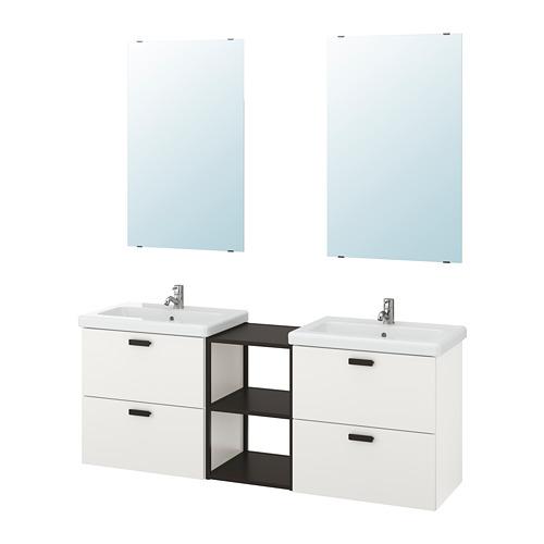 TVÄLLEN/ENHET - 浴室貯物組合 15件裝, 白色/炭黑色 PILKÅN水龍頭 | IKEA 香港及澳門 - PE777532_S4