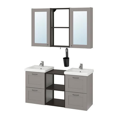 TVÄLLEN/ENHET - 浴室貯物組合 22件裝, grey frame/anthracite Pilkån tap | IKEA 香港及澳門 - PE777473_S4