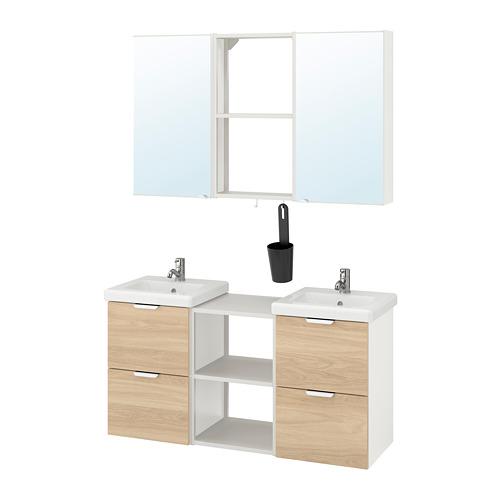 TVÄLLEN/ENHET - 浴室貯物組合 22件裝, oak effect/white Pilkån tap | IKEA 香港及澳門 - PE777527_S4