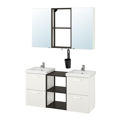 TVÄLLEN/ENHET - bathroom furniture, set of 22, white/anthracite Pilkån tap   IKEA Hong Kong and Macau - PE777474_S4
