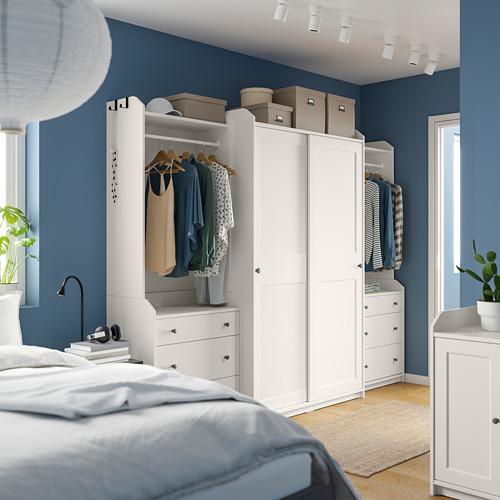 HAUGA - 衣櫃組合, 白色 | IKEA 香港及澳門 - PE791293_S4