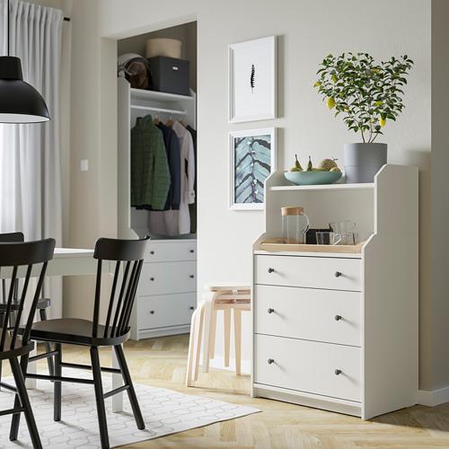 HAUGA - chest of 3 drawers with shelf, white | IKEA Hong Kong and Macau - PE791307_S4
