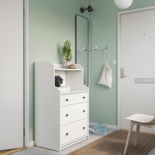 HAUGA - chest of 3 drawers with shelf, white | IKEA Hong Kong and Macau - PE791309_S4