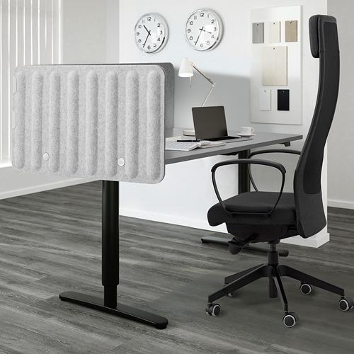 EILIF - screen for desk, 160x48cm, grey | IKEA Hong Kong and Macau - PE791337_S4