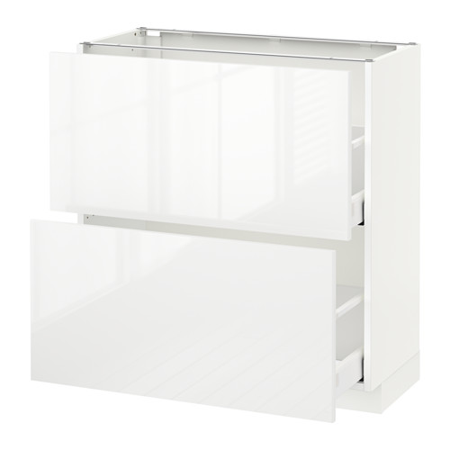 METOD - base cabinet with 2 drawers, white Maximera/Ringhult white   IKEA Hong Kong and Macau - PE521538_S4