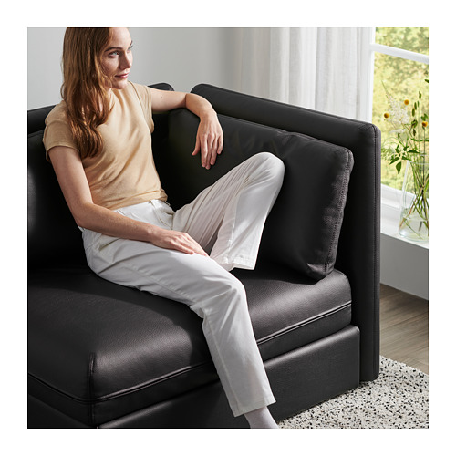 VALLENTUNA - 兩座位組合式梳化連梳化床, and storage/Murum black   IKEA 香港及澳門 - PH166301_S4