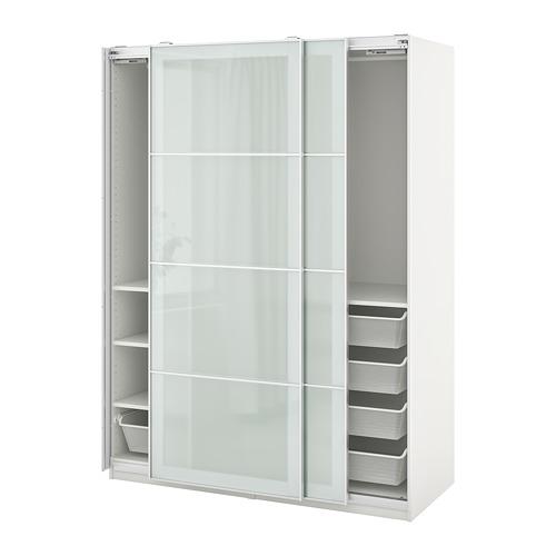 PAX/SEKKEN - 衣櫃組合, 白色/磨砂玻璃 | IKEA 香港及澳門 - PE777571_S4