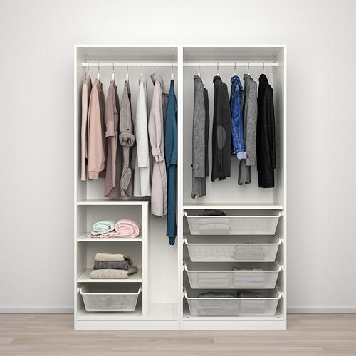 PAX/SEKKEN - 衣櫃組合, 白色/磨砂玻璃 | IKEA 香港及澳門 - PE777570_S4