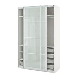 PAX/SEKKEN - wardrobe combination, white/frosted glass | IKEA Hong Kong and Macau - PE777573_S3