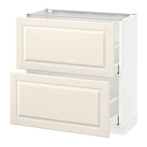 METOD - base cabinet with 2 drawers, white Maximera/Bodbyn off-white | IKEA Hong Kong and Macau - PE521597_S4