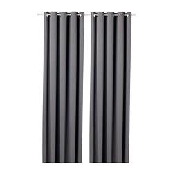 HILLEBORG - 遮光窗簾,一對, 灰色 | IKEA 香港及澳門 - PE695309_S3