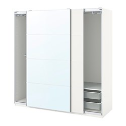 PAX/MEHAMN/AULI - wardrobe combination, white/mirror glass | IKEA Hong Kong and Macau - PE777615_S3