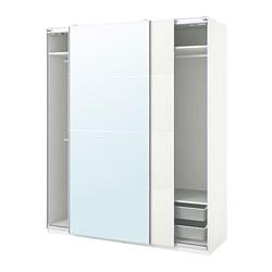 PAX/MEHAMN/AULI - 衣櫃組合, white/mirror glass | IKEA 香港及澳門 - PE777617_S3