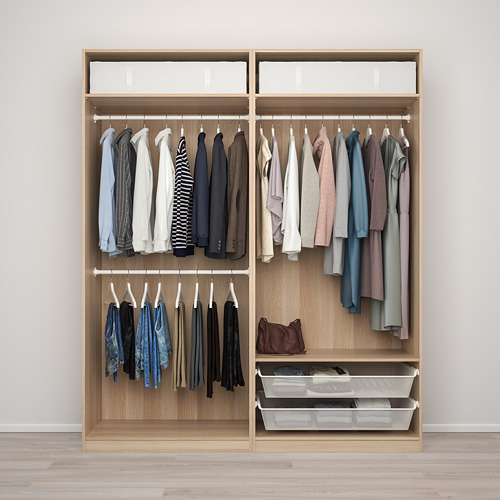 PAX/MEHAMN/AULI wardrobe combination, 200x66x236.4 cm