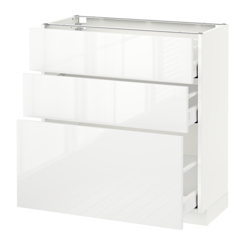 METOD - base cabinet with 3 drawers, white Maximera/Ringhult white | IKEA Hong Kong and Macau - PE521751_S4