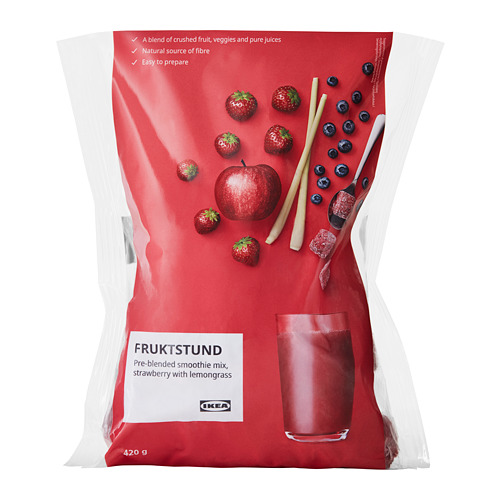 FRUKTSTUND - pre-blended smoothie mix, strawberry with lemongrass/frozen | IKEA Hong Kong and Macau - PE777637_S4
