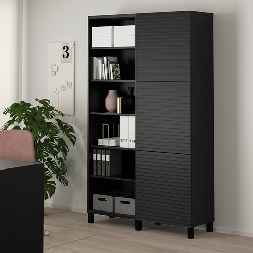 BESTÅ - storage combination with doors, black-brown/Stockviken/Stubbarp anthracite | IKEA Hong Kong and Macau - PE777641_S4