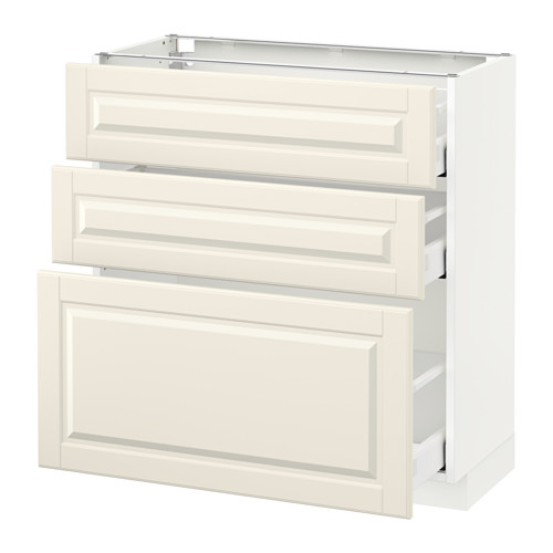METOD - base cabinet with 3 drawers, white Maximera/Bodbyn off-white | IKEA Hong Kong and Macau - PE521789_S4