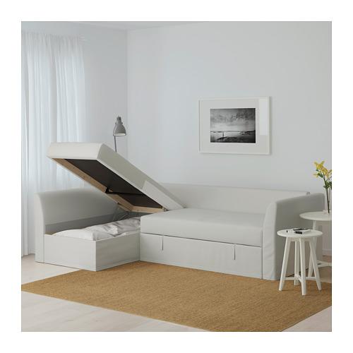 HOLMSUND - 角位梳化床(可貯物), orrsta 淺白灰色   IKEA 香港及澳門 - PE648014_S4