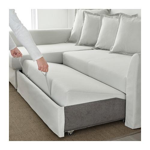 HOLMSUND - 角位梳化床(可貯物), orrsta 淺白灰色   IKEA 香港及澳門 - PE648013_S4