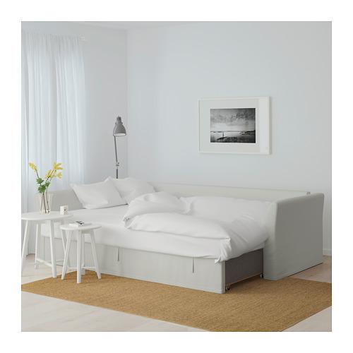 HOLMSUND - 角位梳化床(可貯物), orrsta 淺白灰色   IKEA 香港及澳門 - PE648012_S4