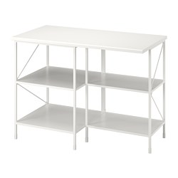 ENHET - kitchen isl storage comb w seating, white | IKEA 香港及澳門 - PE777649_S3