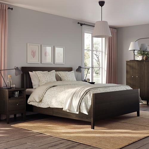 IDANÄS - 特大雙人床架連抽屜, 深褐色/Luröy | IKEA 香港及澳門 - PE791468_S4