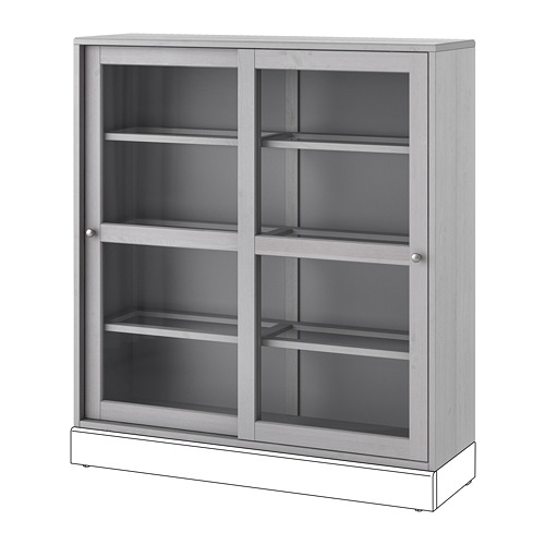 HAVSTA - 玻璃門貯物櫃, 灰色   IKEA 香港及澳門 - PE695395_S4