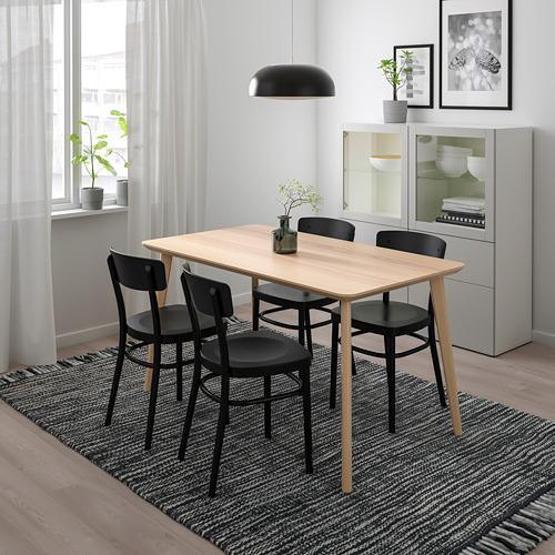 IDOLF/LISABO - table and 4 chairs, ash veneer/black | IKEA Hong Kong and Macau - PE738619_S4