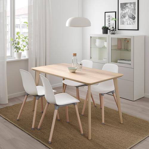 LEIFARNE/LISABO - 一檯四椅, 梣木飾面/白色 | IKEA 香港及澳門 - PE738624_S4