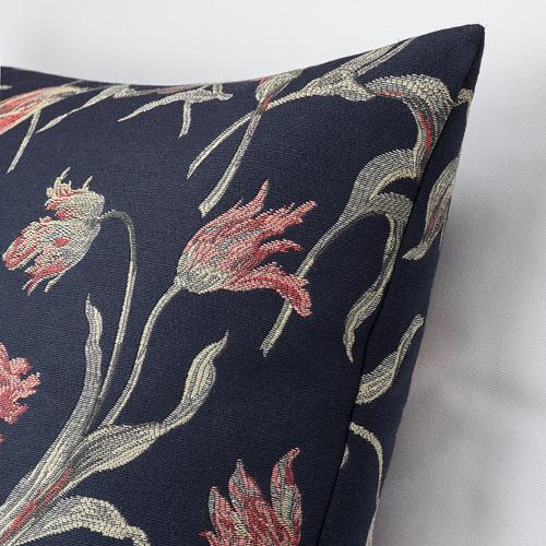 ÅLANDSROT - cushion, dark blue/floral patterned | IKEA Hong Kong and Macau - PE777676_S4