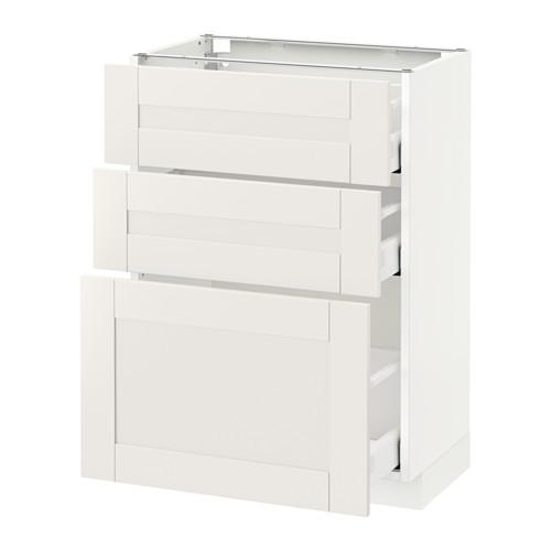METOD - 3層抽屜地櫃, 白色 Maximera/Sävedal 白色 | IKEA 香港及澳門 - PE522009_S4