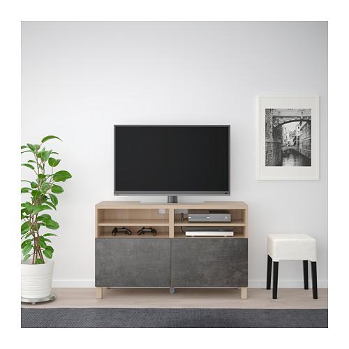 BESTÅ TV bench with doors