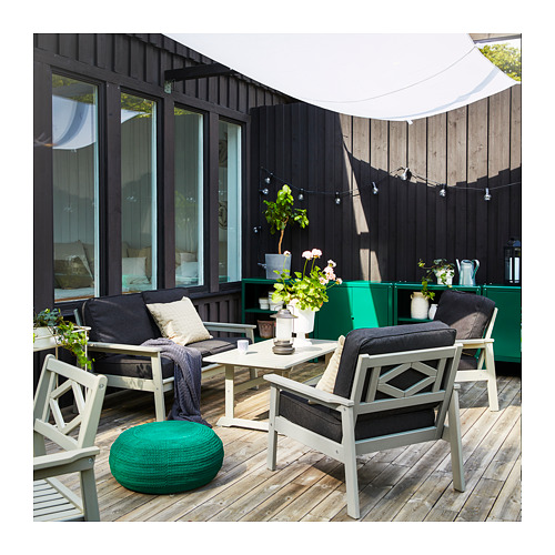 BONDHOLMEN - armchair, outdoor, grey stained | IKEA Hong Kong and Macau - PH166323_S4